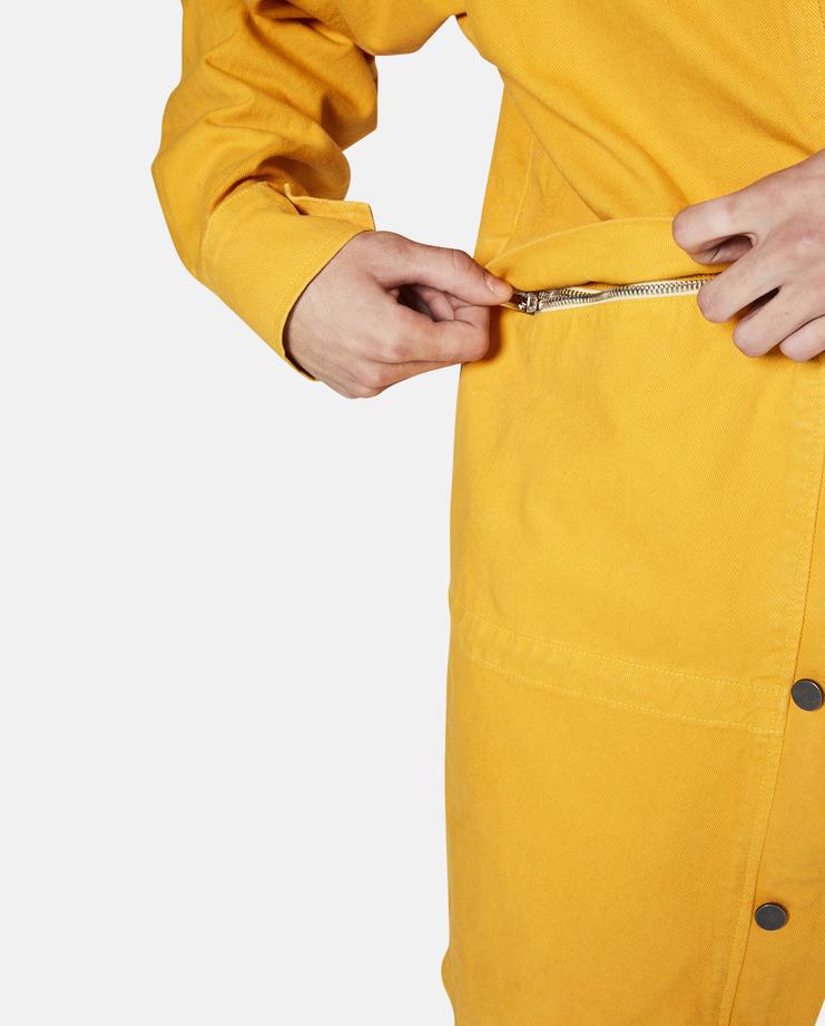 424, Denim Parka, Yellow, Mid-Length Parka, Jacket, Coat, S/S 17, SS17, SS 17, FourTwoFour, 424 On Fairfax