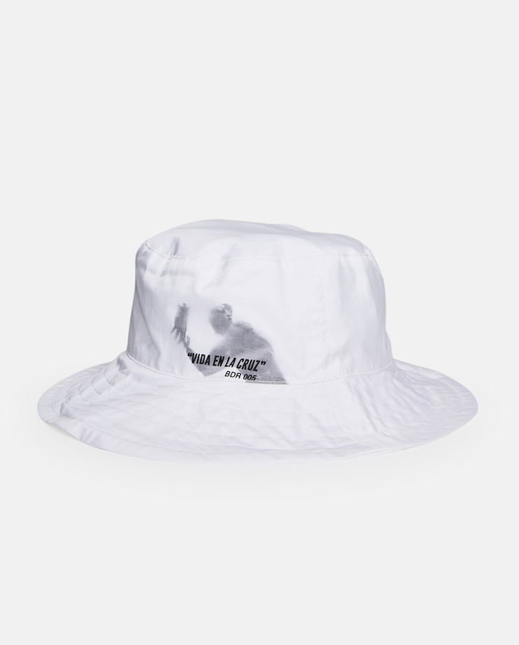 Hyein Seo Double Layered Bucket Hat SS17 Brim White Cotton Nylon