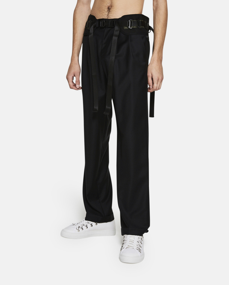 Hyein Seo Oversized Suit Pants with Military Belt SS17