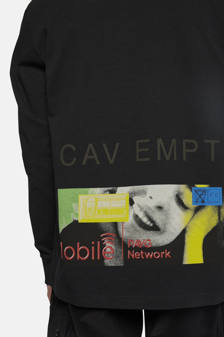 Cav Empt, Mobile Long Sleeve T-Shirt, SHOWstudio, MACHINE-A, Collaboration, Exclusive, Black, Longsleeve tee, S/S 17
