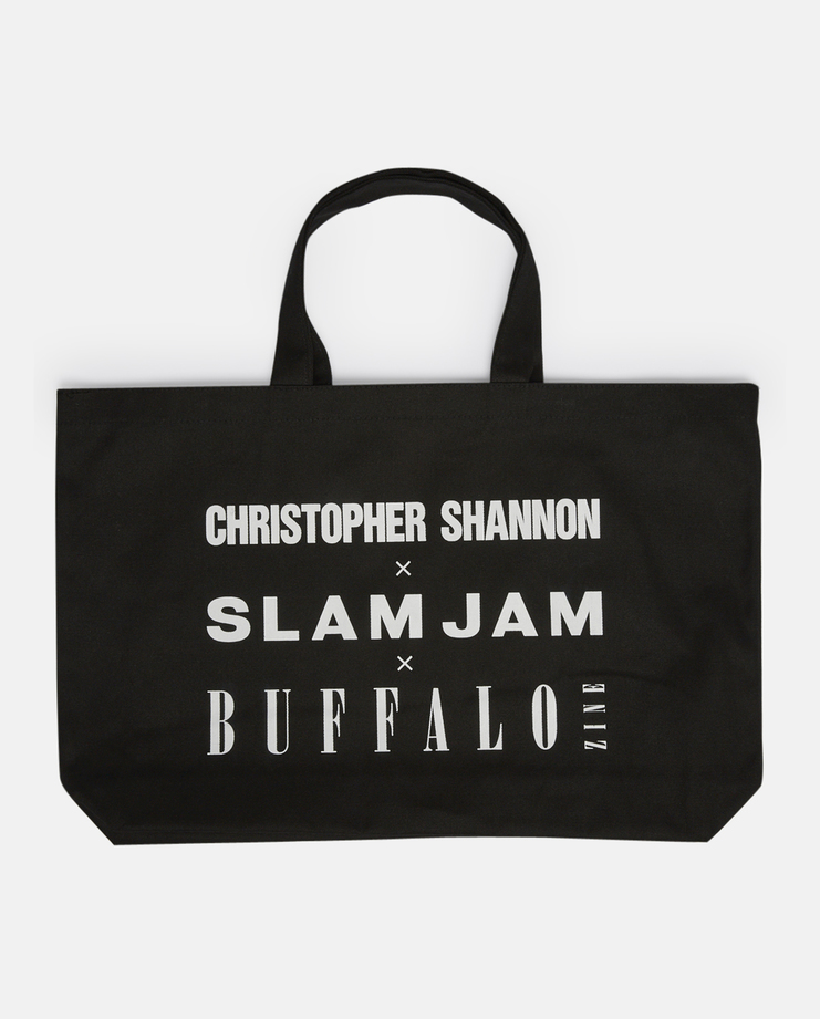Christopher Shannon x Slam Jam x Buffalo Logo Tote Bag SS17 Black Rectangular