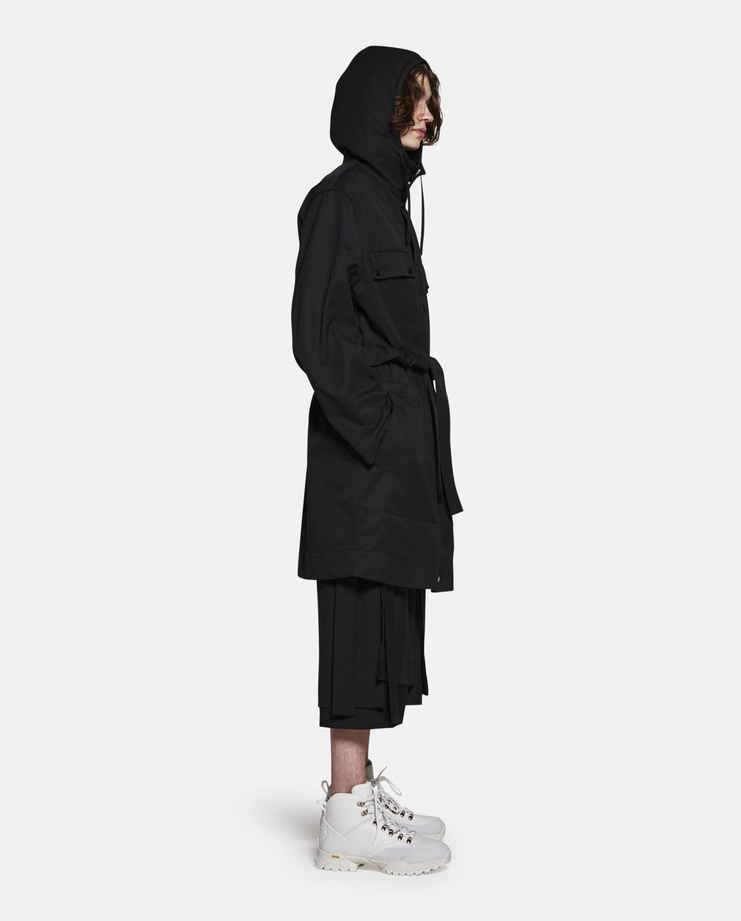Craig Green, Hooded Anorak, Black, Raincoat, Core, Jacket, New Arrivals, Menswear, Workwear, Black Coat, Mens Coat, Mens Jacket, Rain Jacket, Mens Anorak