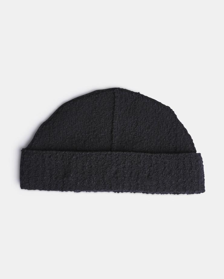Craig Green, Boucle Knit Beanie, Menswear, Core, Workwear, Black Beanie, Black Knit Hat, Black Hat, Knitted Wool Beanie, Knitted Wool Hat, Menswear