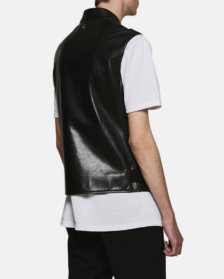 Alyx, Leather Biker Vest, Menswear, Womenswear, Unisex, Jacket, Coat, Leather, Black, New Arrivals, New Season, A/W 17