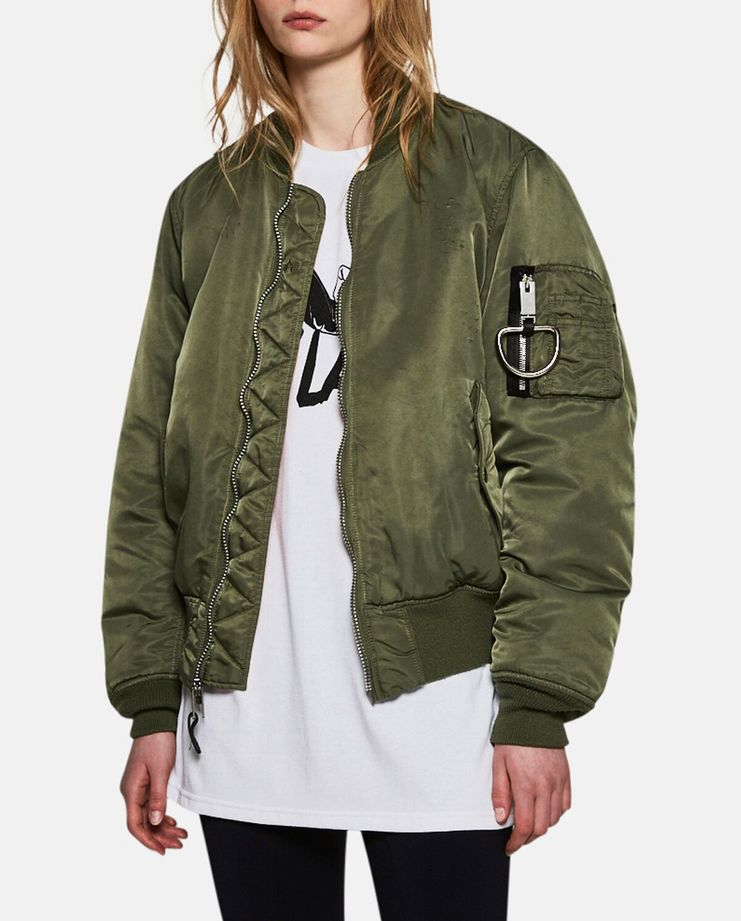 Alyx, E 1999 Eternal, MA-1 Bomber Jacket, Alyx Bomber Jacket, Olive, Womenswear, Unisex, Coats, Jackets, New Arrivals, AW17