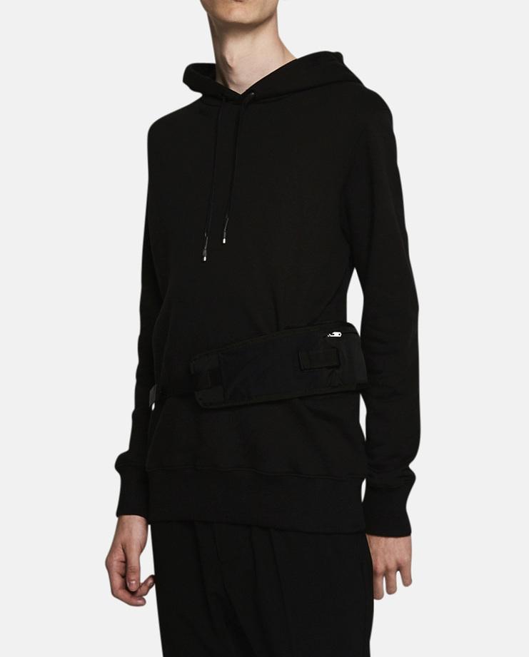Alyx, Waist Belt Utility Hoodie, Menswear, Hoodie, Sweatshirt, Jumper, Black, New Arrivals, A/W 17