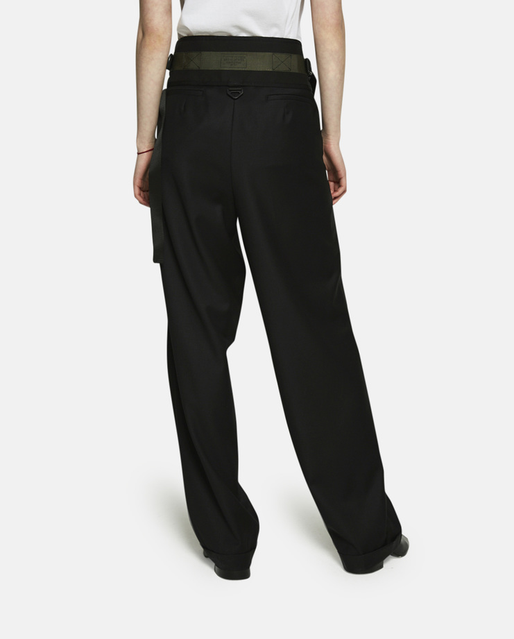 Hyein Seo, Oversized Suit Pants With Military Belt, Black, Black Trousers, Hyein Seo Pants, Hyein Seo Trousers, Black Pants, Suit Pants, Suit Trousers, Womens, S/S 17, SS17 New Arrivals