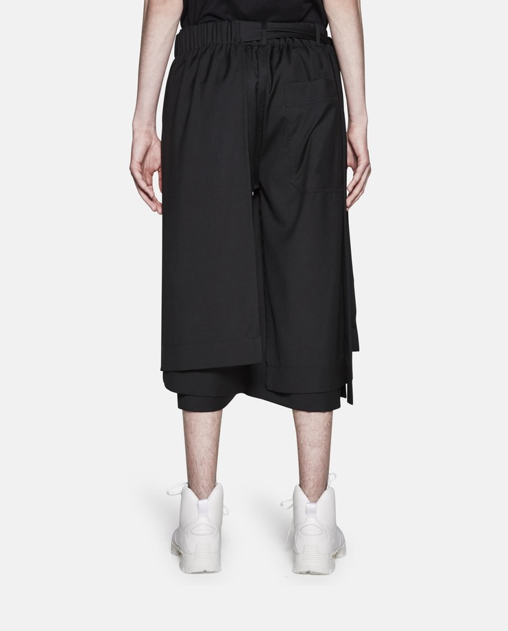 Craig Green, Wool Layered Track Pant, Black Track Pant, Wool Track Pant, Black Pants, Black Trousers, Black Shorts, Black Sweatpants, Shorts, Menswear
