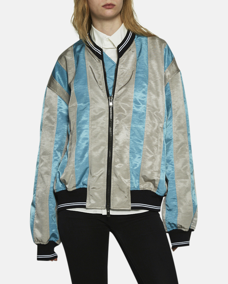 Y/Project, Oversized Teddy Jacket, Oversized Bomber Jacket, Bomber Jacket, Varsity Jacket, Teddy Jacket, Blue Jacket, Y/Project Jacket, Y Project Jackets, New Arrivals, Blue Jacket, Blue Oversized Jacket