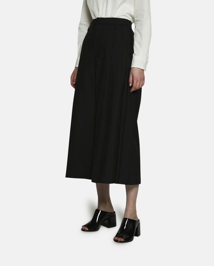 Noir Kei Ninomiya, Wide Leg Cropped Trousers, Black Trousers, Black Pants, Kei Ninomiya Trousers, Black Pants, Womens Trousers, Womens Pants, New Arrivals, New Kei Ninomiya Trousers, Black Wide Leg Trousers, SS17