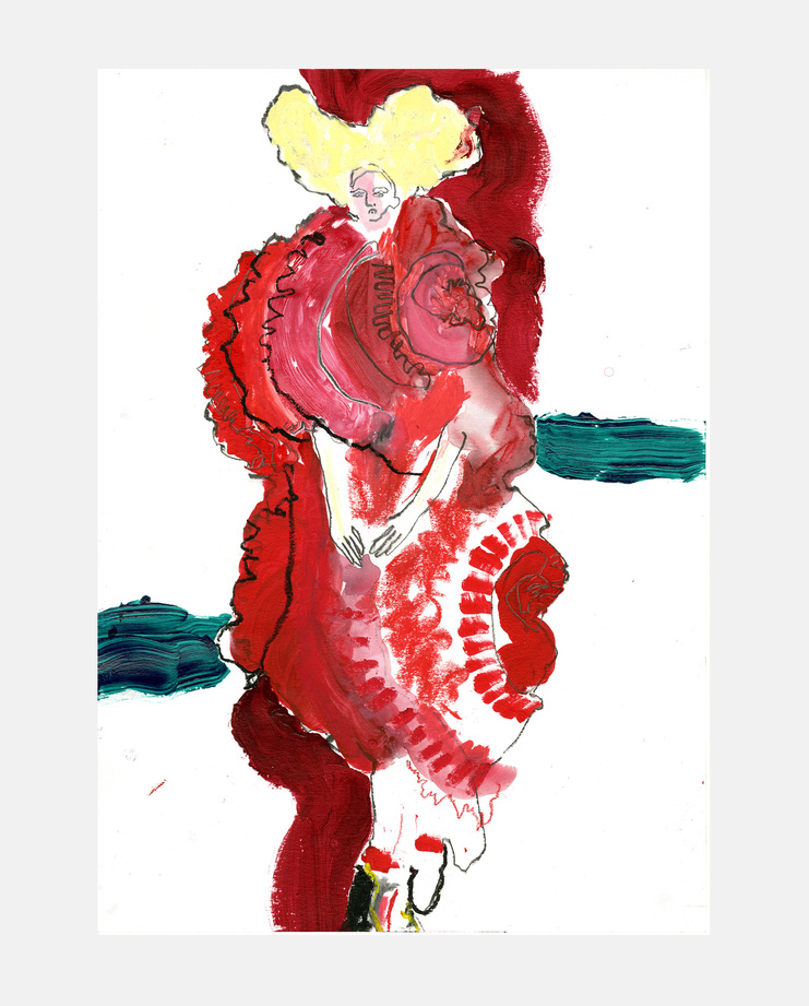 "Helen Bullock, Comme des Garçons ""Blood and Roses"" Spring 2015, Fashion Flora, SHOWstudio"