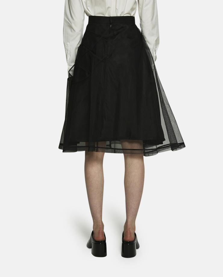 Noir Kei Ninomiya, Webbed Skirt, Black Skirt, Black Webbed Skirt, Noir Kei Skirt, Kei Ninomiya Skirt, New Arrivals, New Noir Kei, Noir Kei Skirt, Noir Kei Womens, S/S 17