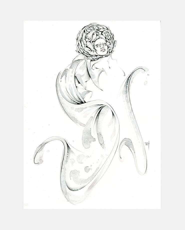 Comme des Garçons A/W 12, Samuel Harrison, fashion illustration, showstudio, fashion flora, flora starkey