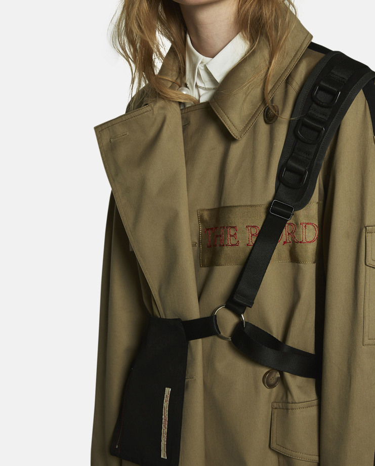 Hyein Seo, Embroidered Trench Coat, Khaki, S/S 17, New Collection, Khaki Trench Coat, Brown Coat, Womens Coat, Womenswear, New Arrivals, S/S 17, Hyein Seo Coat, New Coat, Womens Coats