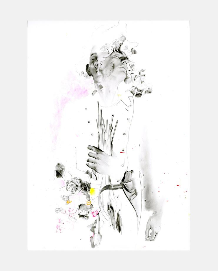 Comme des Garçons Homme Plus A/W 16, Richard Kilroy, fashion illustration, showstudio, fashion flora, flora starkey