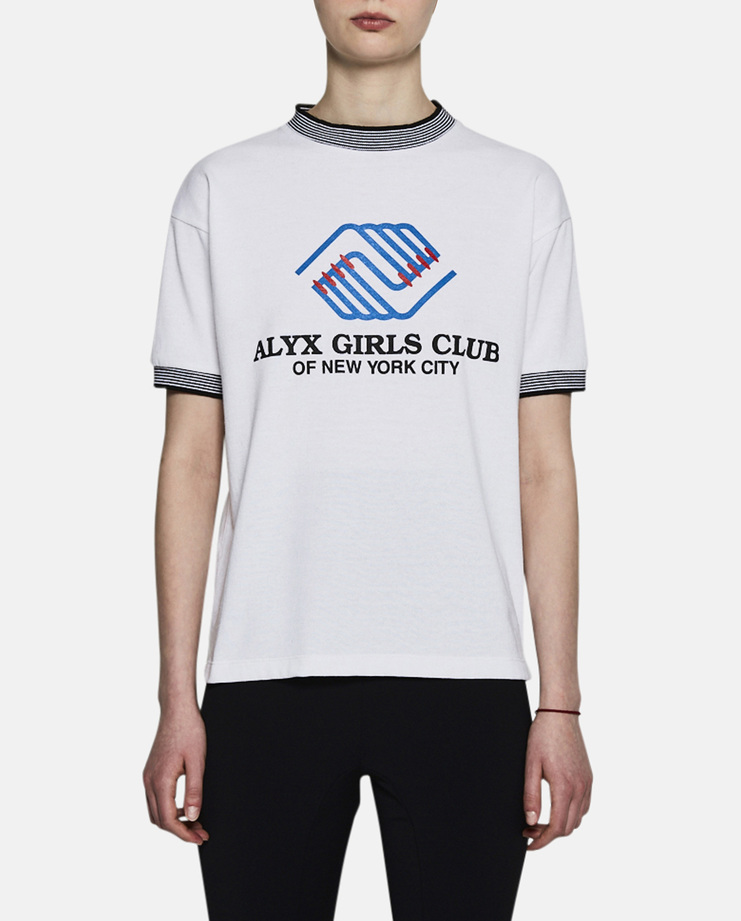 Alyx, Girls Club Sport Tee, T-Shirt, Ribbed T-Shirt, White, Shirt, AW17