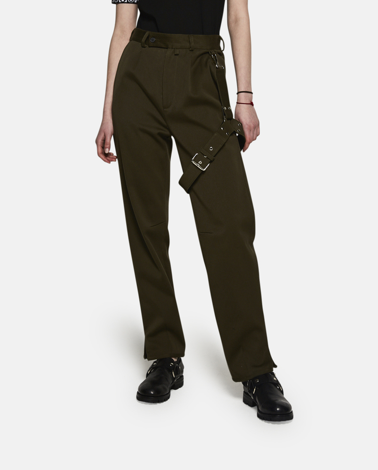 Alyx, Bondage Suit Pants, Green, Pants, Womens, Bondage, Clothing, AW17