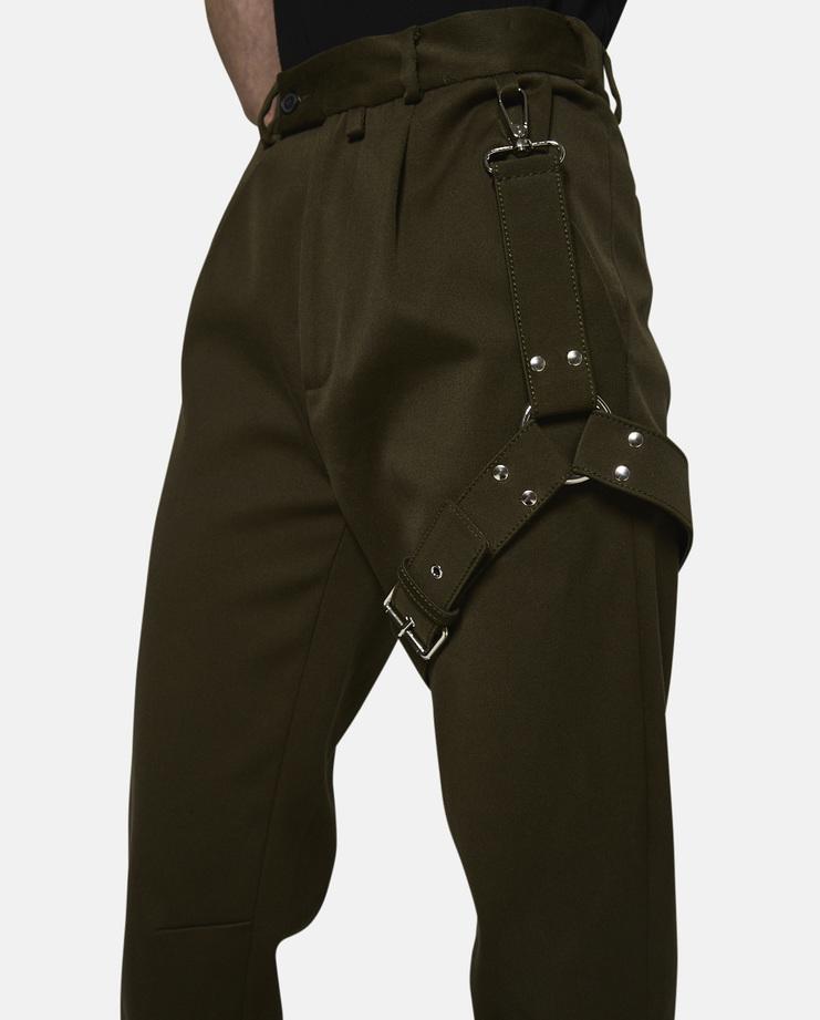 Alyx, Bondage Suit Pants, Green, Pants, Womens, Bondage, Clothing, AW17