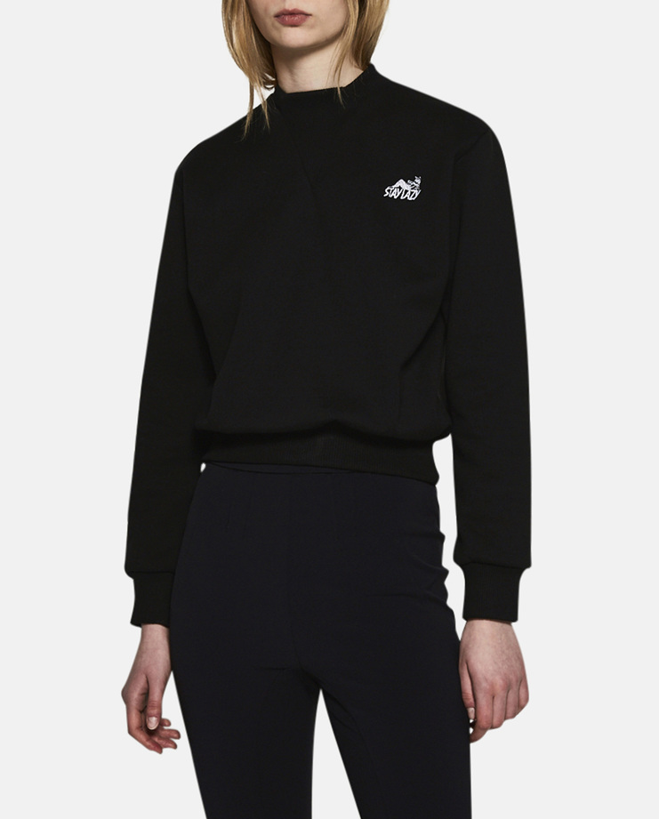 Alyx, Stay Lazy Crewneck, Womens, Black, Tops, Jumper, Sweatshirt, Sweater, New Arrivals, AW17