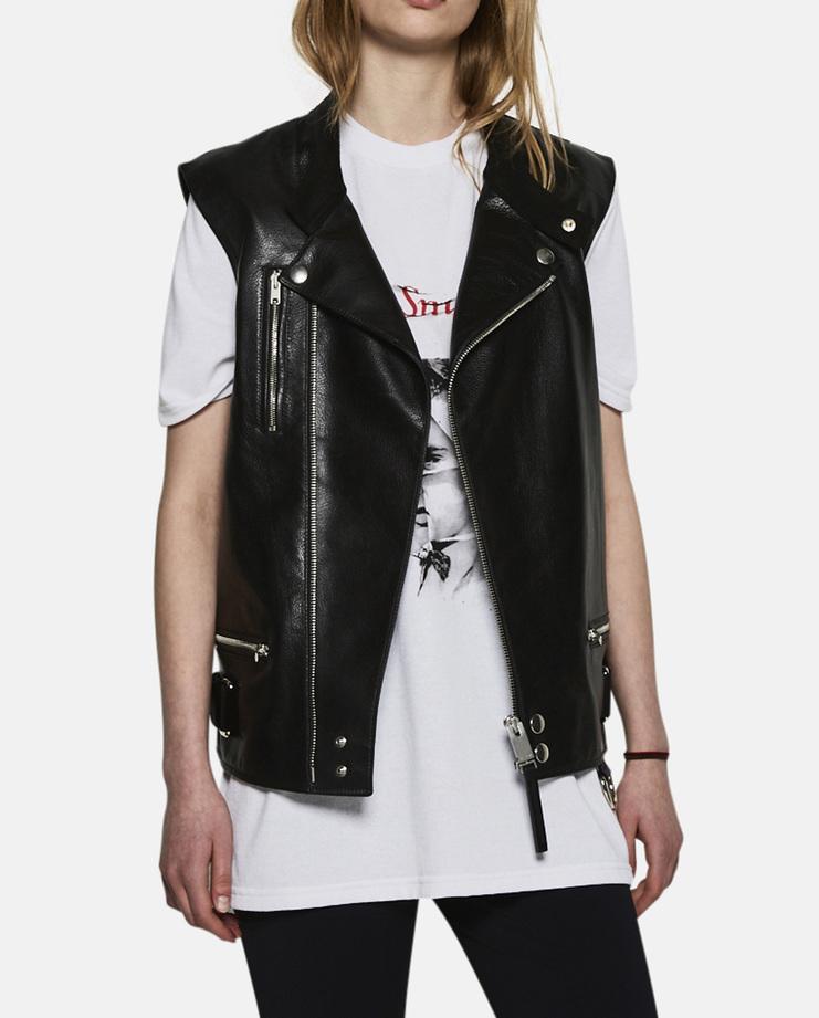 Alyx, Leather Biker Vest, Womenswear, Menswear, Unisex, Jacket, Coat, Vest, Black, New Arrivals, New Collection, A/W 17