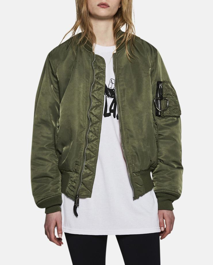 Alyx, E 1999 Eternal, MA-1 Bomber Jacket, Alyx Bomber Jacket, Olive, Womenswear, Unisex, Coats, Jackets, New Arrivals, A/W 17