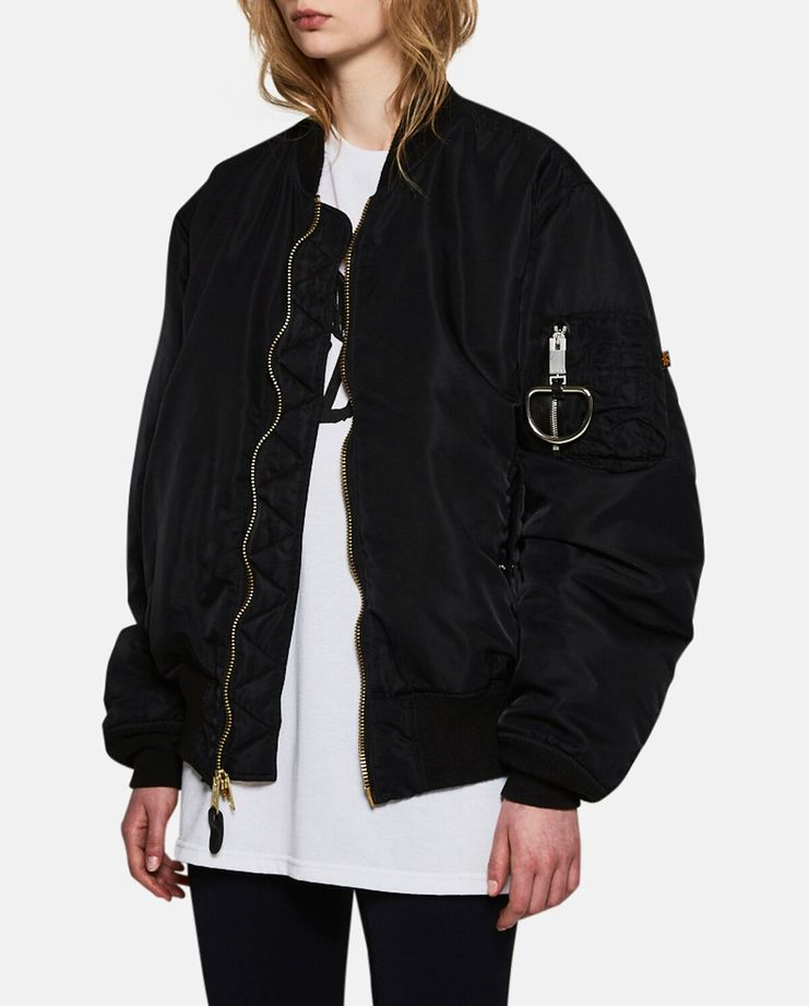 Alyx, E 1999 Eternal, MA-1 Bomber Jacket, Black, Womens, Jacket, Coat, Outerwear, New Arrivals, New Season, A/W 17