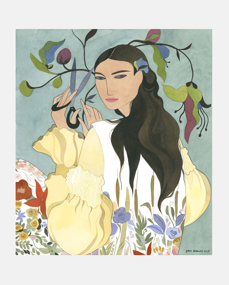 Kelly Beeman, Vintage Ossie Clarke, with Celia Bertwell Print, Fashion Flora, SHOWstudio