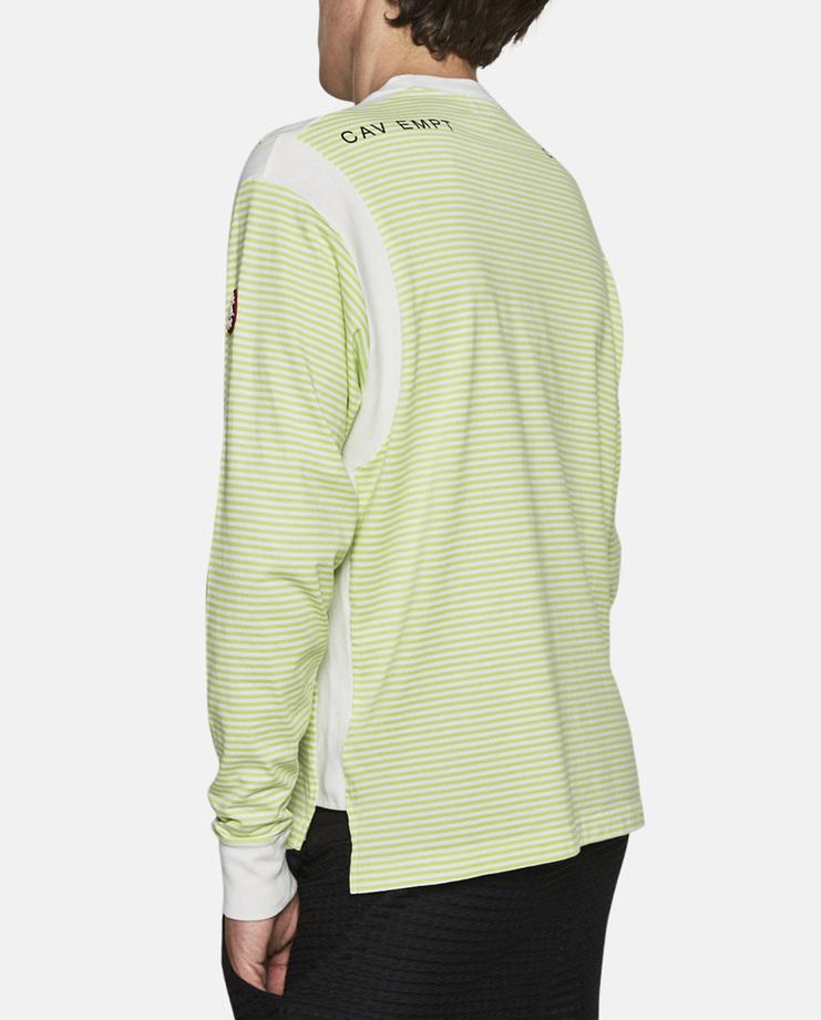 Cav Empt, Striped Long Sleeve T-Shirt, Green, Top, T Shirt, New Arrivals, S/S 17
