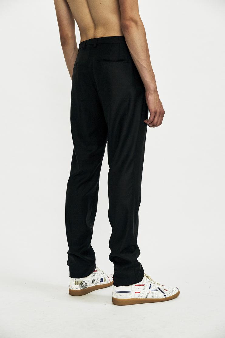 DELADA Slim black Trousers pants blue suit pleat aw17 wool