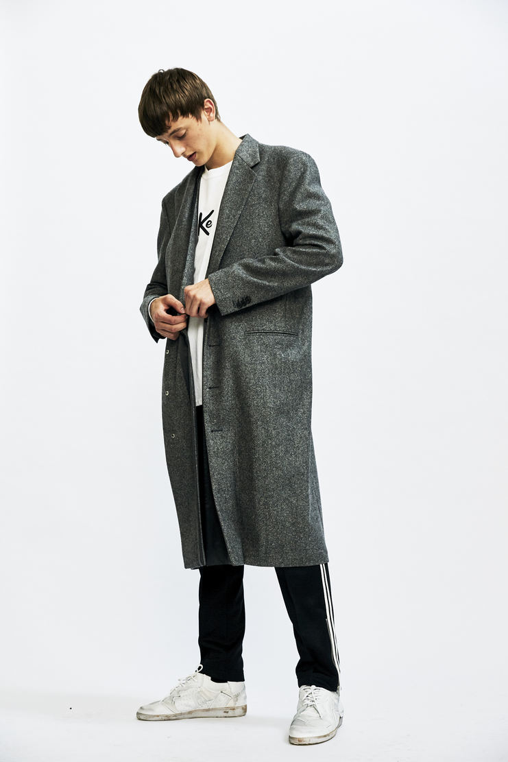Maison Margiela - Grey Wool Coat aw17 a/w17 long mmm galliano