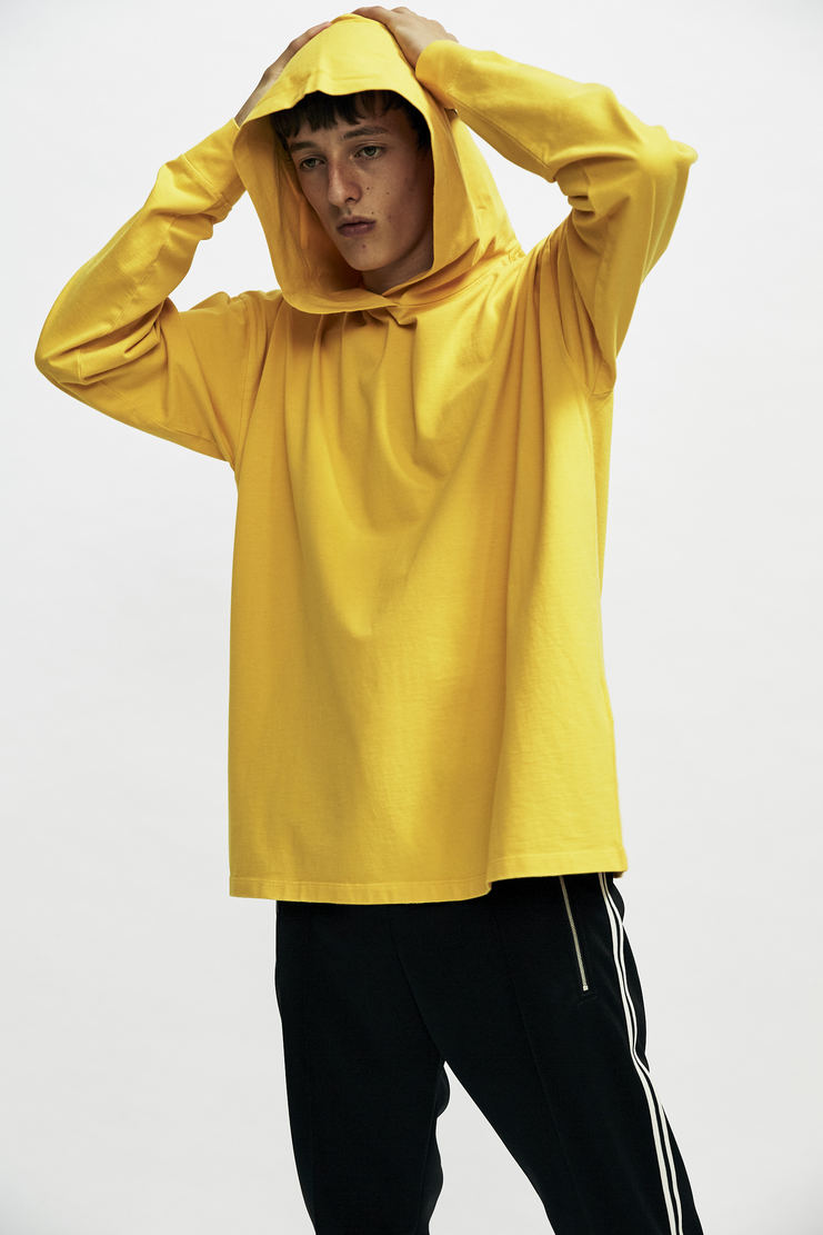 "MM6 ""Sleep Tight Tiger"" Yellow Hooded T-Shirt top hoodie oversized big maison margiela galliano aw17 a/w17"