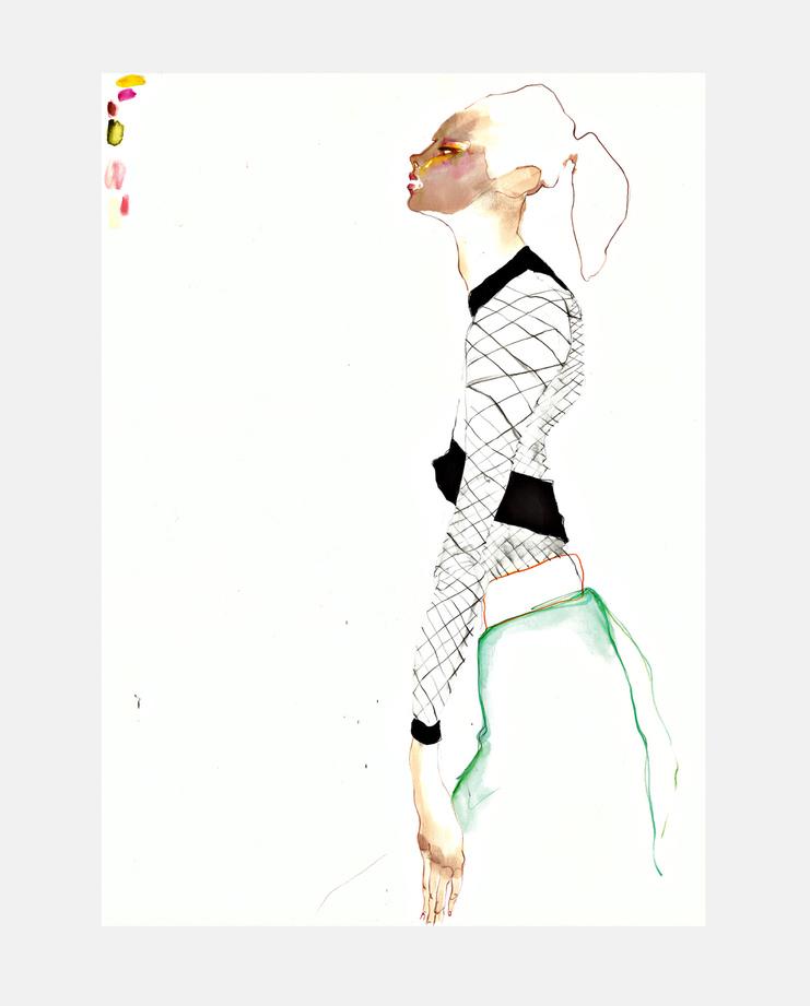 Balmain S/S 16, Rob Phillips, SHOWstudio, fashion illustration