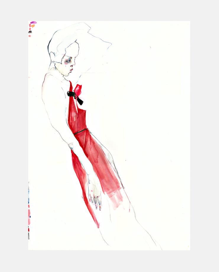Lanvin S/S 16, SHOWstudio, Rob Phillips, Fashion Illustration