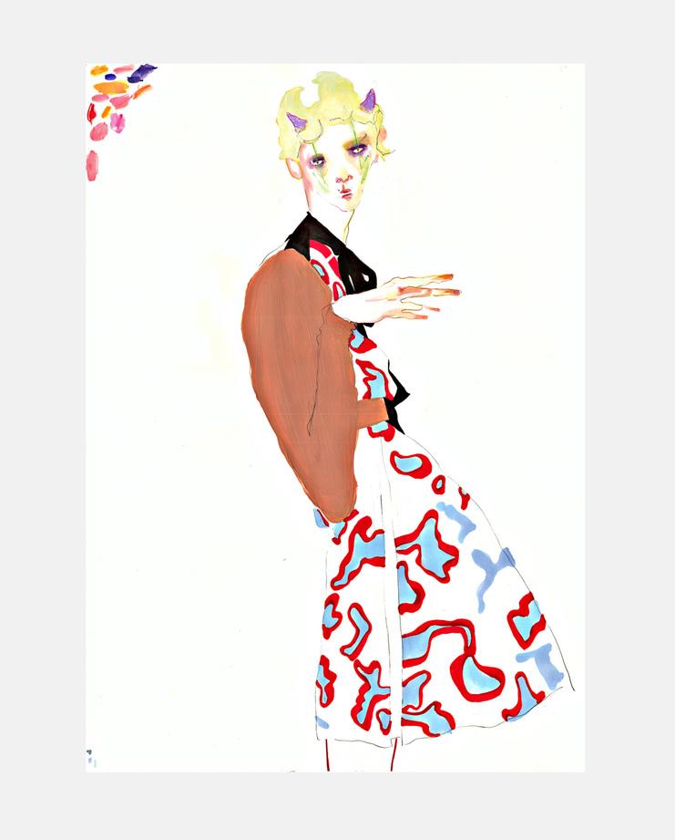 Undercover S/S 16, SHOWstudio, Rob Phillips, Fashion Illustration