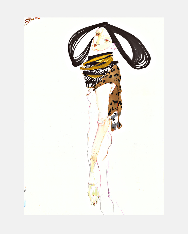 Junya Watanabe S/S 16, SHOWstudio, Rob Phillips, Fashion Illustration