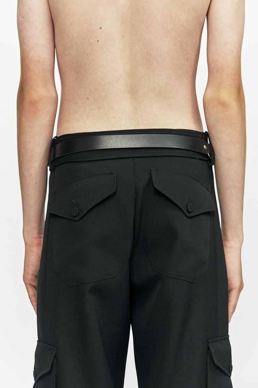 Fleet Illya Double D-Ring Belt Leather AW17 Autumn Winter 17 Accessories