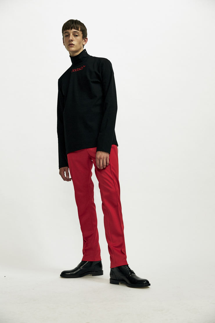 Maison Margiela Tracksuit Pants Pant Track Trousers Autumn Winter 17 AW17 Red Striped Stripes Polyester MMM Martin Zip Zipped