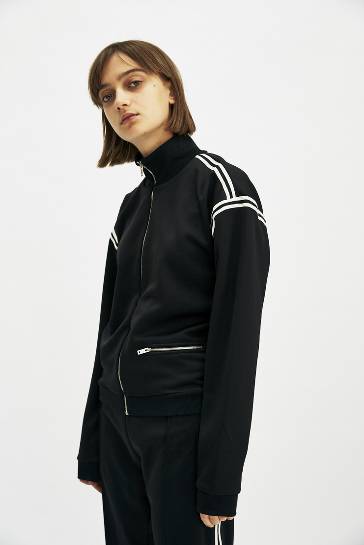 Maison Margiela Tracksuit Top Track Jacket Sweatshirt Autumn Winter 17 AW17 Black Striped Stripes Polyester MMM Martin