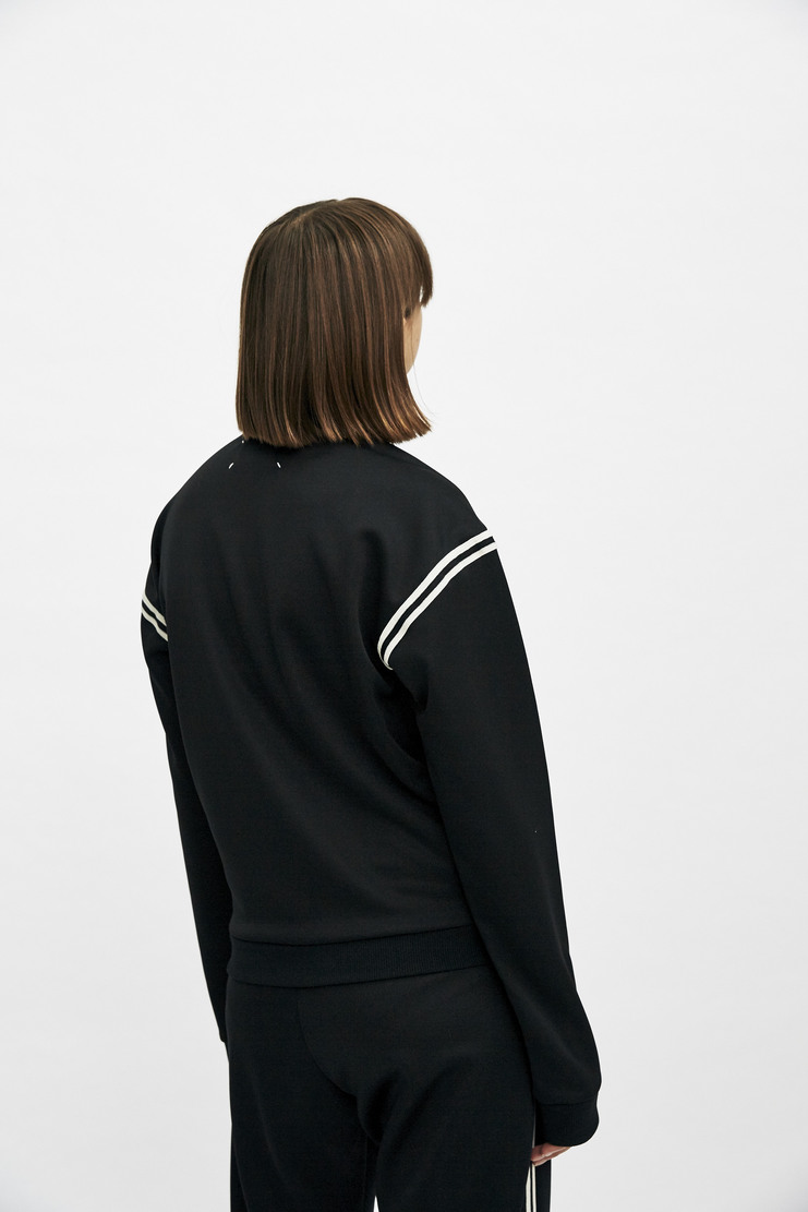 Maison Margiela Tracksuit Top Track Jacket Sweatshirt Autumn Winter 17 AW17 Black Striped Stripes Polyester MMM Martin