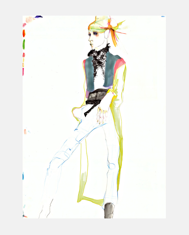 Haider Ackermann S/S 16, SHOWstudio, Rob Phillips, Fashion Illustration