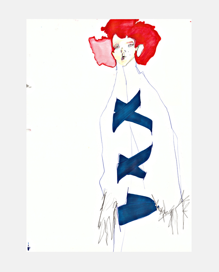 Comme Des Gacon S/S 16, SHOWstudio, Rob Phillips, Fashion Illustration