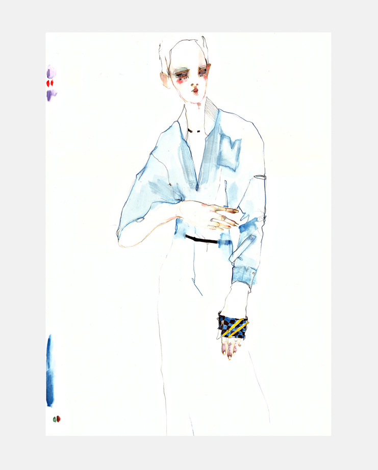 Louis Vuitton S/S 16, SHOWstudio, Rob Phillips, Fashion Illustration