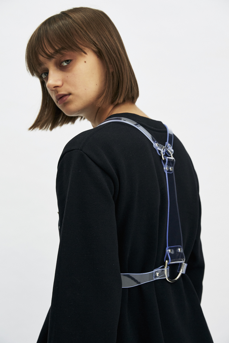 Fleet Ilya D-Ring Harness Clear PVC Made in England Autumn Winter 17 AW17 Brass Accessories Belt Handmade