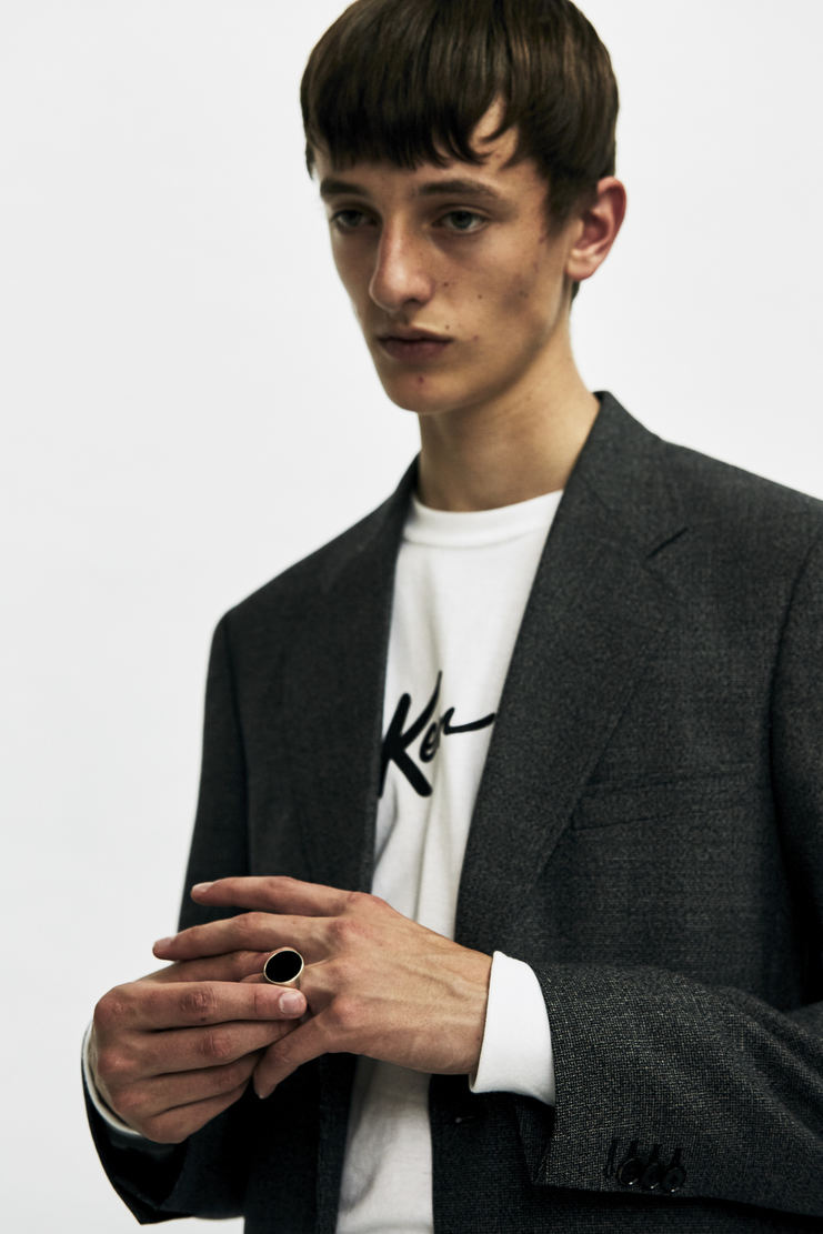 Maison Margiela Round Signet Ring Autumn Winter 17 AW17 MMM Margeila Argento Silver Natural Stone Black Galliano Jewellery Accessories