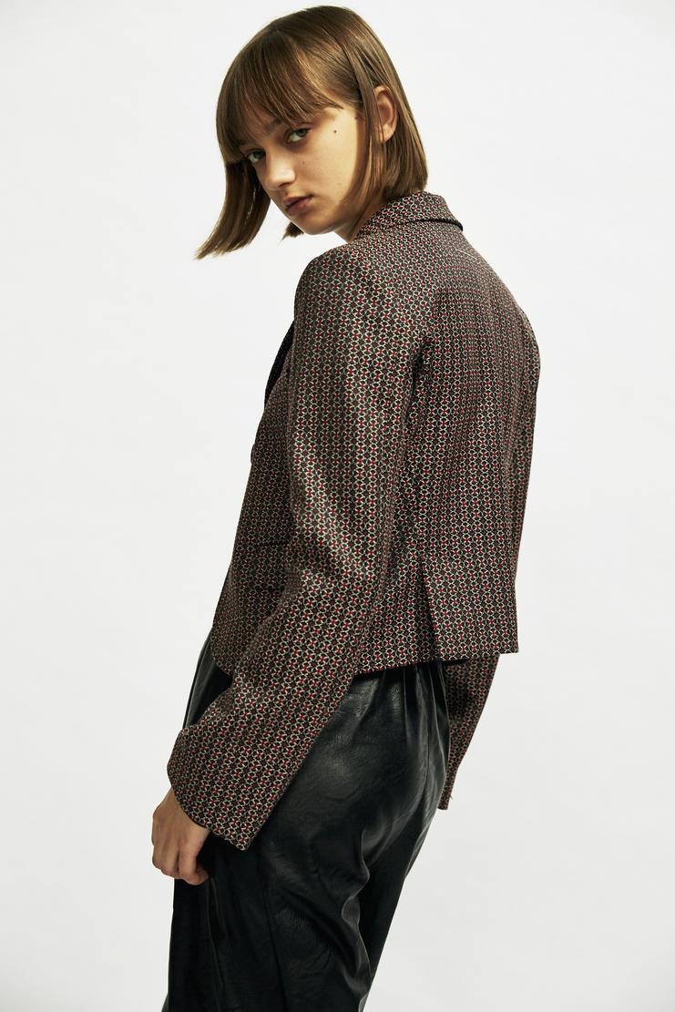 MM6 Short Jacquard Blazer Autumn Winter 17 AW17 MMM Maison Martin Margiela Patterned Jacket Cropped Coat