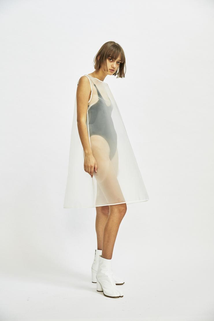 MM6 - Transparent White Dress Cone translucent see through a line aw17 a/w17 margiela maison margiela overlay