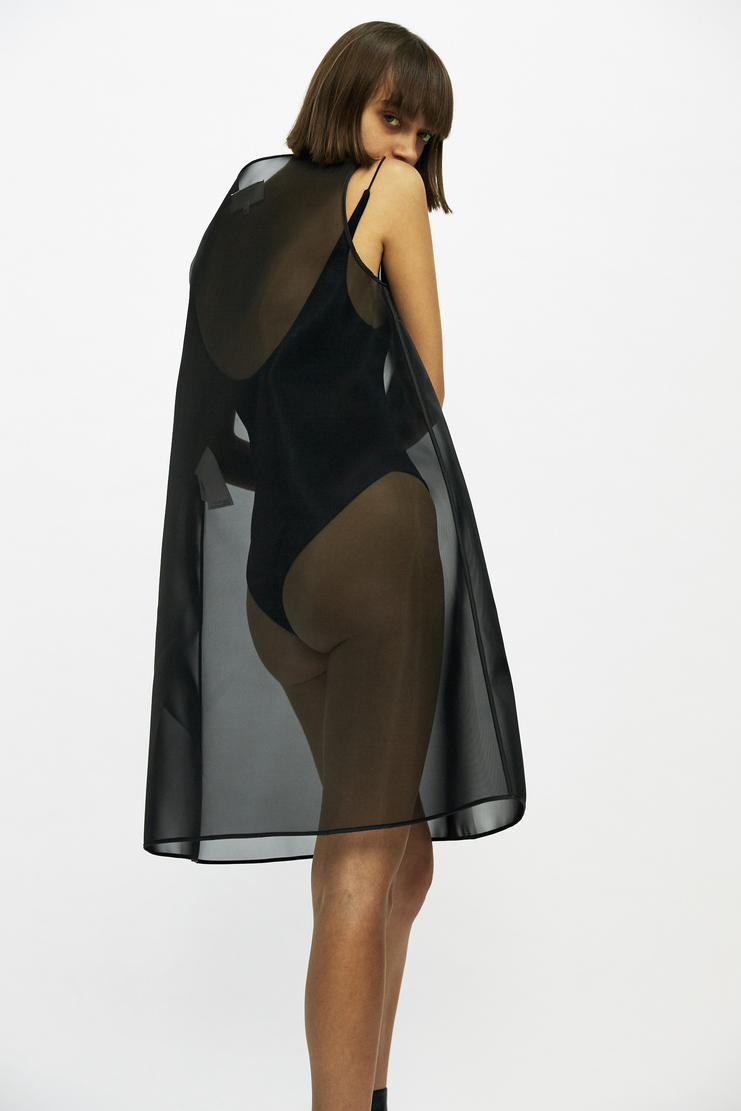MM6 - Transparent Black Dress Cone translucent see through a line aw17 a/w17 margiela maison margiela overlay
