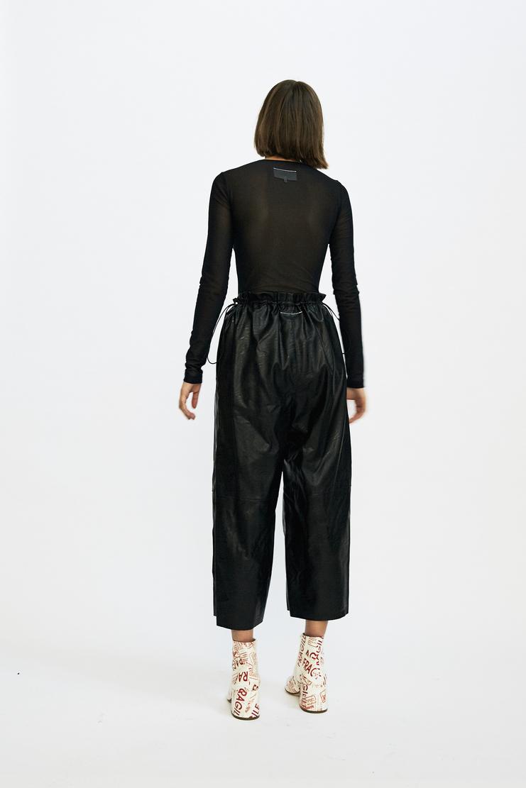 MM6 Black Fake Leather Trousers Maison Margiela Pleather AW17 MMM Faux Autumn Winter 17 AW17 Margeila
