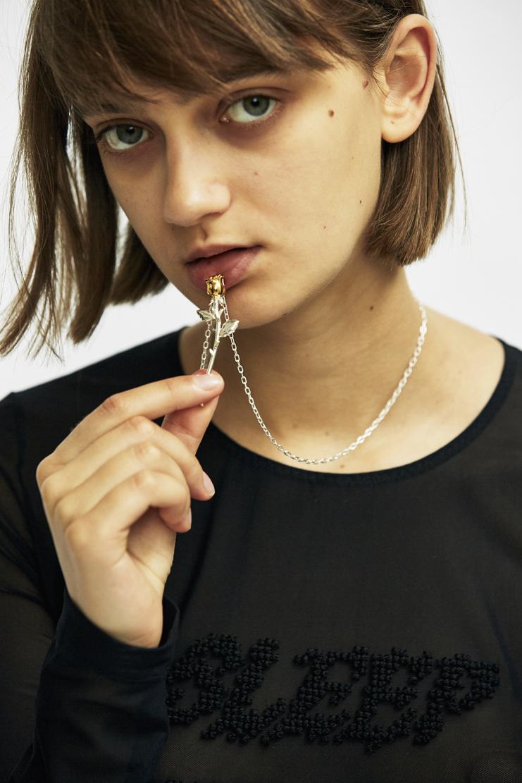 Ambush - Rose Charm Necklace aw17 a/w 17 gold silver