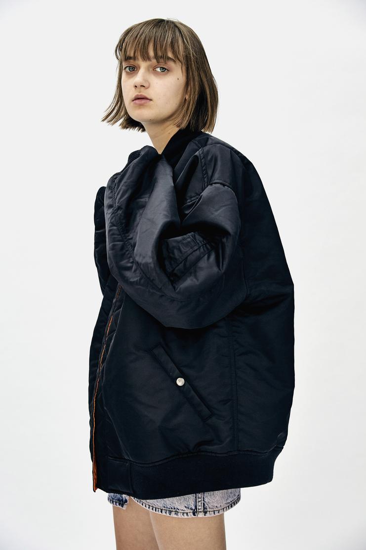 Christian Dada Bomber Jacket Black reversible orange coat Mens AW17 Christian Dior CD